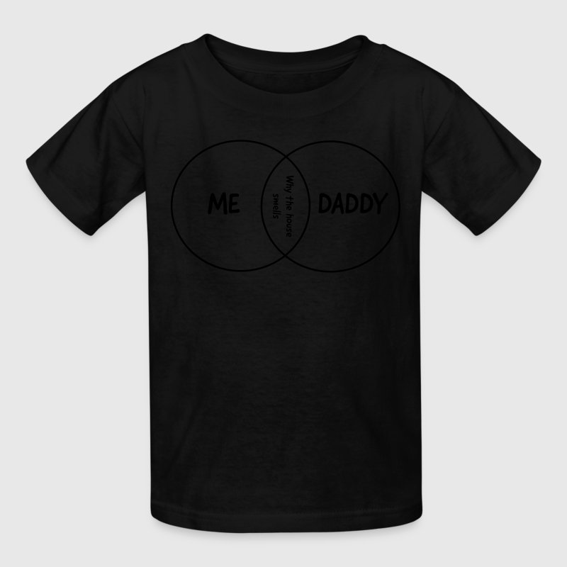 Me, Daddy, Why the house smells venn diagram Kids' Shirts - Kids' T-Shirt