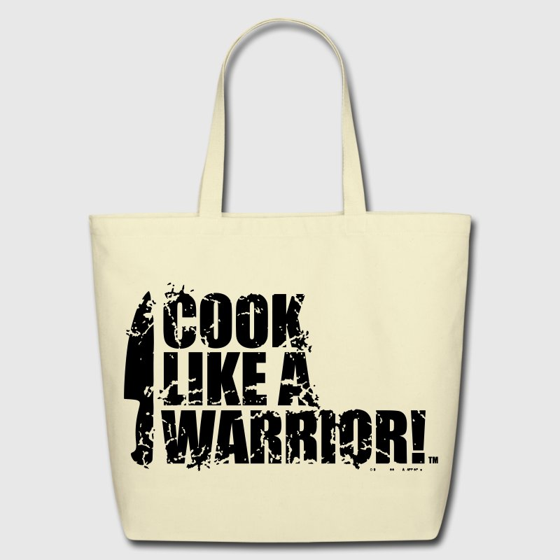 COOK LIKE A WARRIOR! - Chef Knife Bags & backpacks - Eco-Friendly Cotton Tote