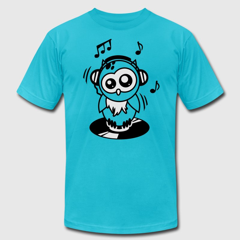 Owl Willis available clothing: DJ equipment T-Shirts - Men's Fine Jersey T-Shirt