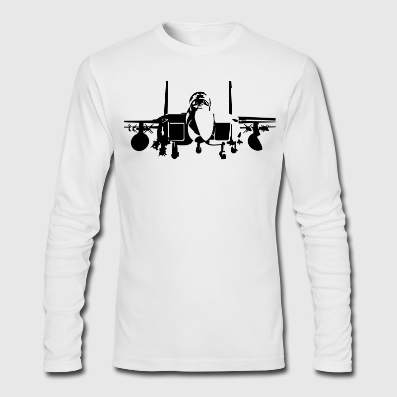 fighter F-15 Long Sleeve Shirts - Men's Long Sleeve T-Shirt by Next Level