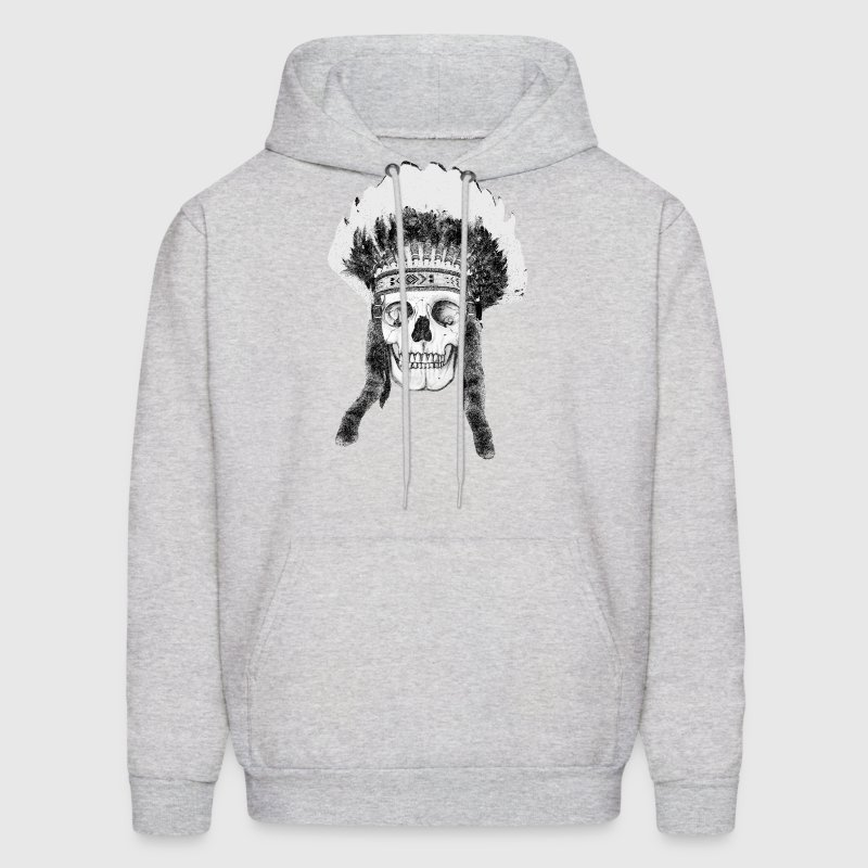 skull indian headdress Hoodies - Men's Hoodie