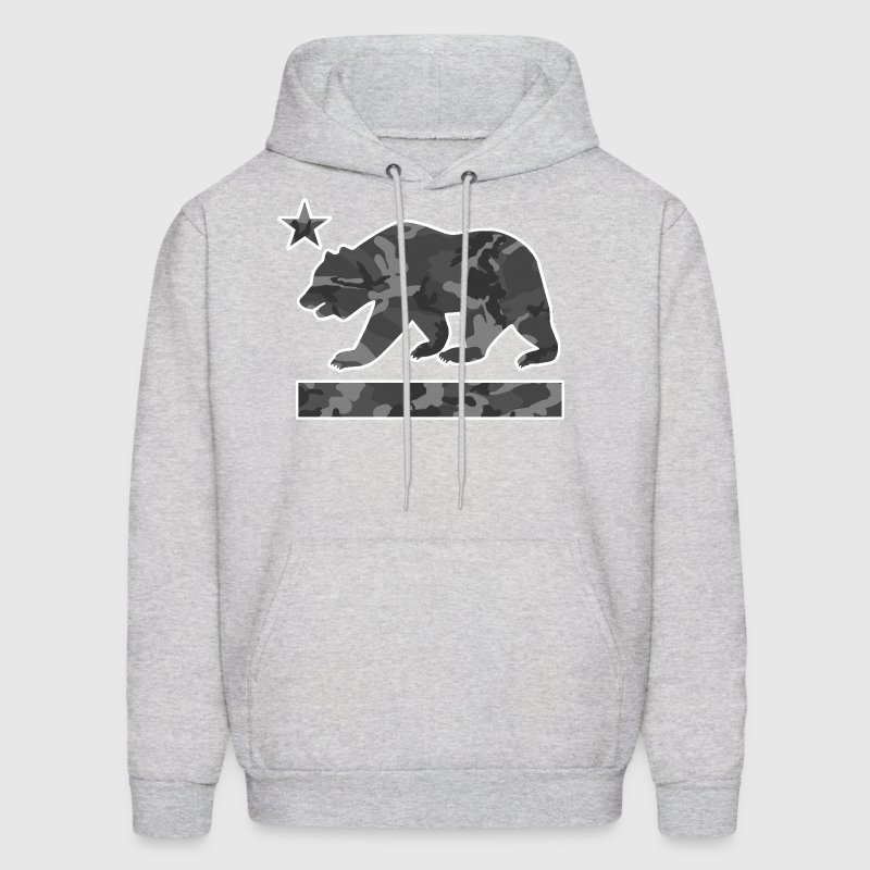 California Bear Flag (Urban Camo) - Men's Hoodie