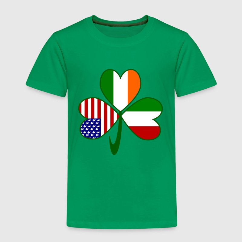 Italian Irish American Shamrock Baby & Toddler Shirts - Toddler Premium T-Shirt