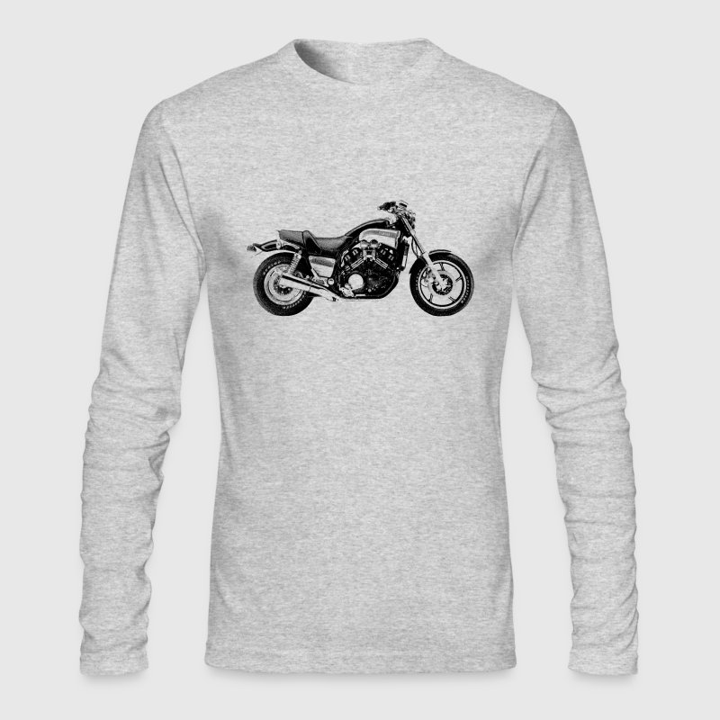 Vintage Motorcycle Long Sleeve T-shirt - Vmax |  - Men's Long Sleeve T-Shirt by Next Level