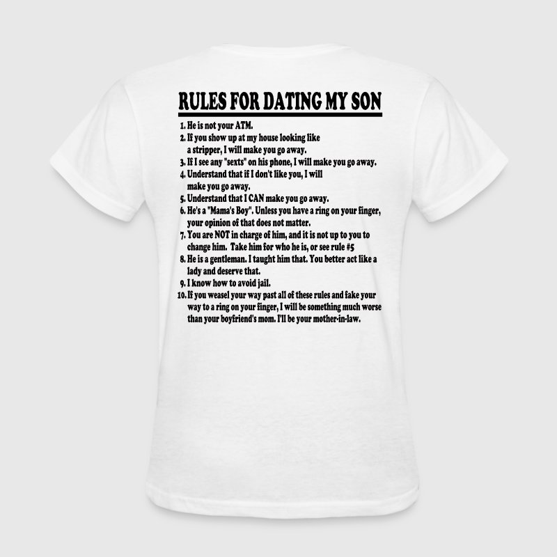 Rules For Dating My Son Womens T-shirt - Women's T-Shirt