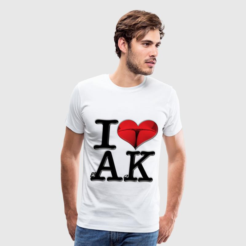 I Love AK - crAcK (for light-colored apparel) T-Shirts - Men's Premium T-Shirt