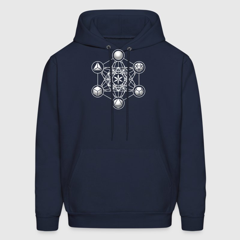 Metatrons Cube, Platonic Solids, Sacred Geometry Hoodies - Men's Hoodie