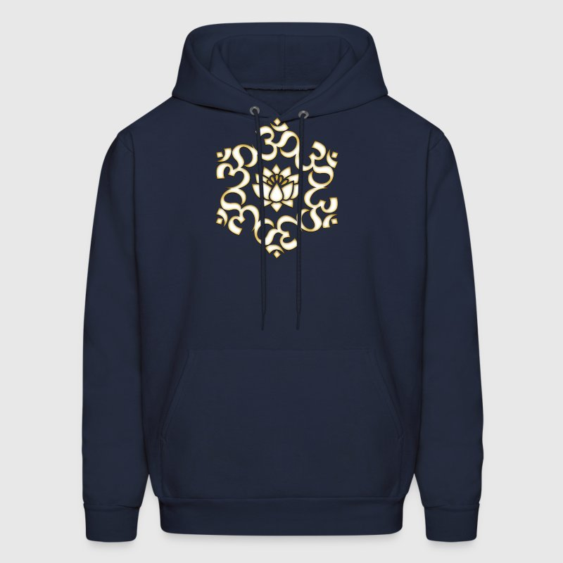 Om Lotus, Buddhism, Yoga, Meditation, spiritual Hoodies - Men's Hoodie