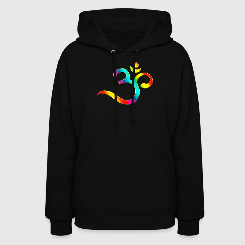 Om, Symbol, Rainbow, Buddhism, Mantra, Meditation, Hoodies - Women's Hoodie