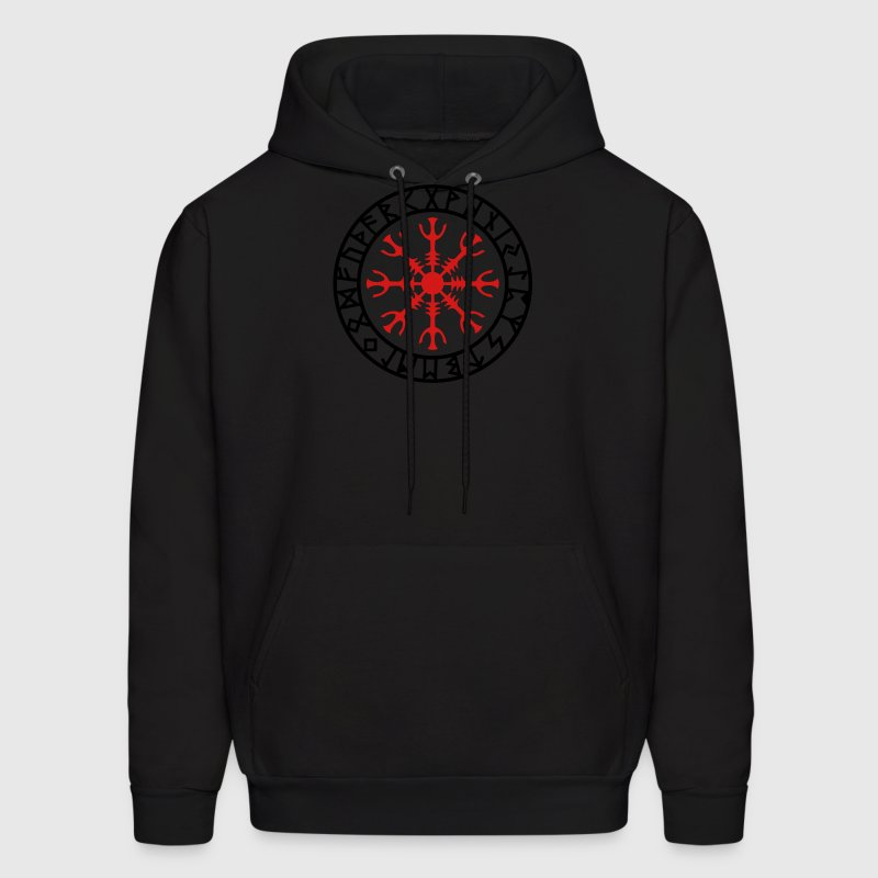 Helm of awe, Aegishjalmur, protection symbol, rune Hoodies - Men's Hoodie