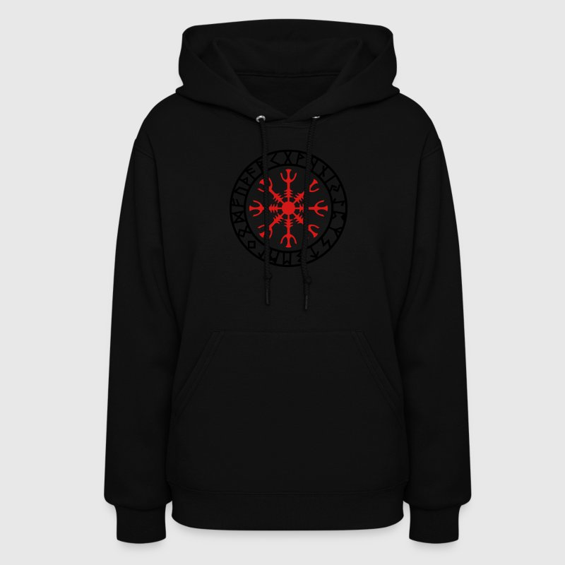 Helm of awe, Aegishjalmur, protection symbol, rune Hoodies - Women's Hoodie