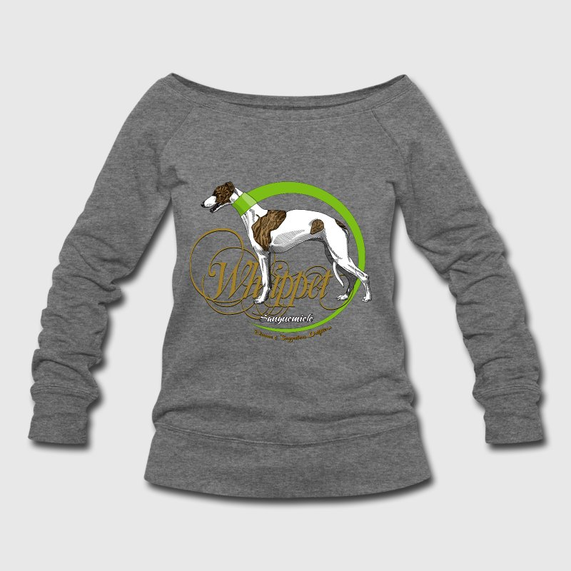 whippet Long Sleeve Shirts - Women's Wideneck Sweatshirt