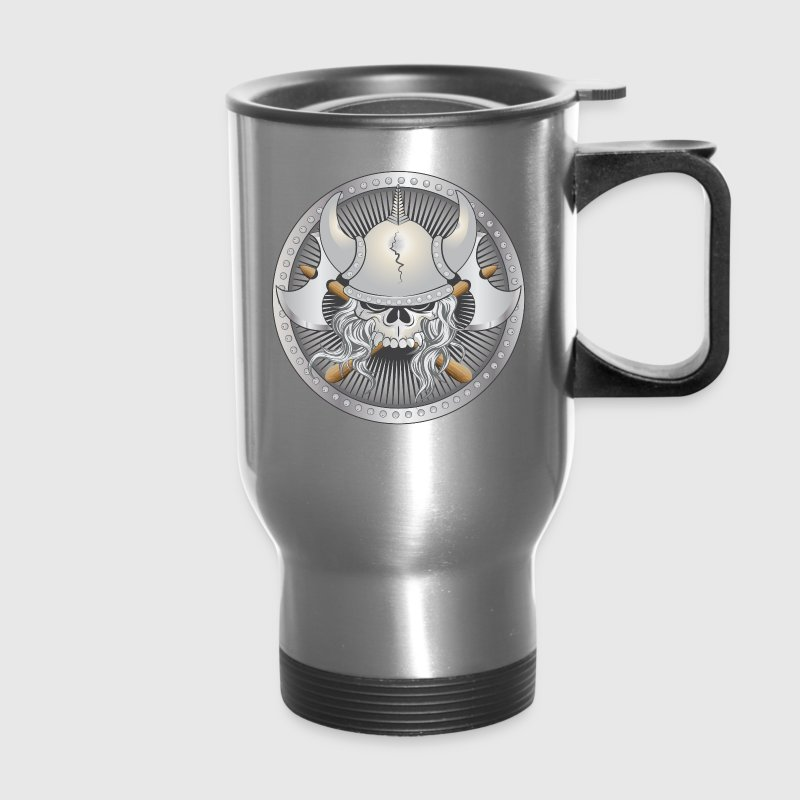 Viking Warrior Skull Bottles & Mugs - Travel Mug