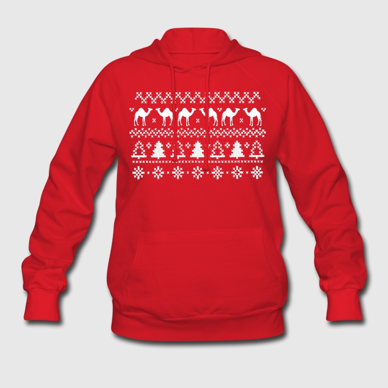Christmas Hump Day Camel Ugly Sweater Womens Hoodi - Women's Hoodie