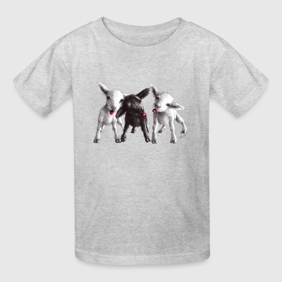 Cute funny and cheeky sheep - Kids' T-Shirt