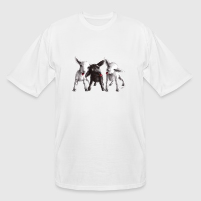 Cute funny and cheeky sheep - Men's Tall T-Shirt
