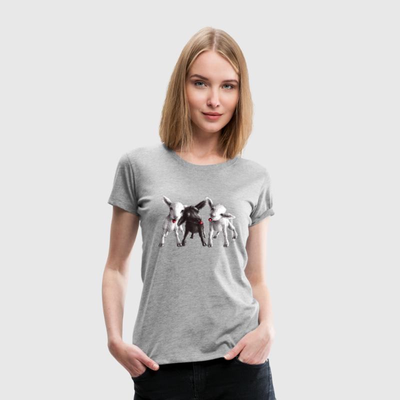 Cute funny and cheeky sheep - Women's Premium T-Shirt
