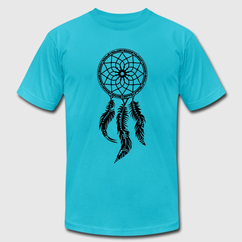 Dream catcher, Native American Indians, Feathers T-Shirts - Men's T-Shirt by American Apparel