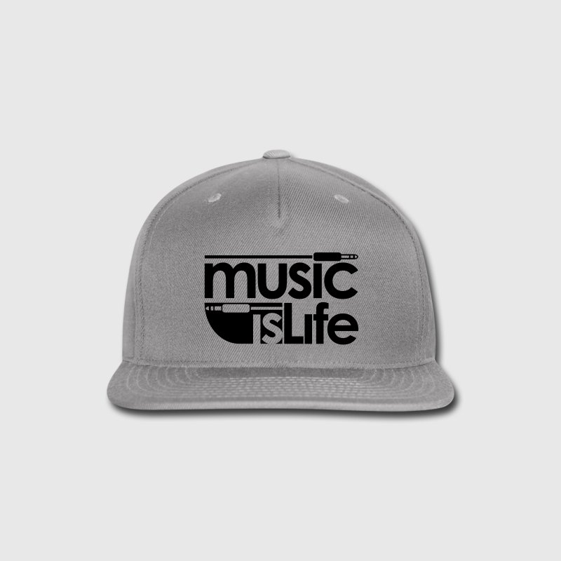 Music is Life Caps - Snap-back Baseball Cap