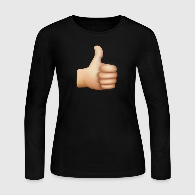 THUMBS UP EMOTICON Long Sleeve Shirts - Women's Long Sleeve Jersey T-Shirt