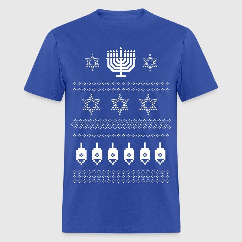 Ugly Happy Hanukkah Sweater Shirt T-Shirt | Spreadshirt