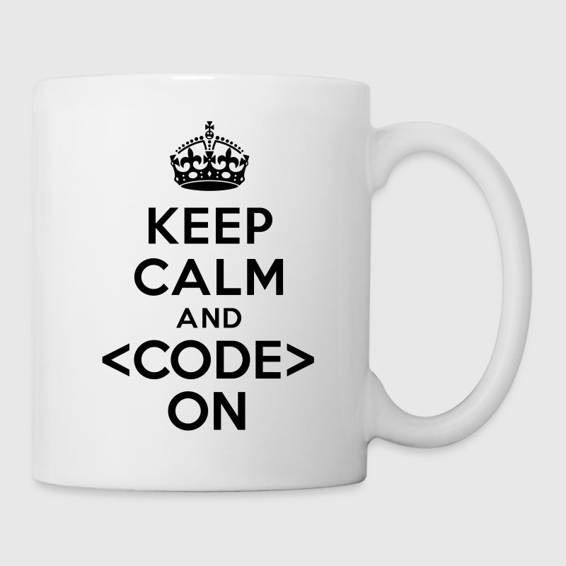 Keep calm and code on Bottles & Mugs - Coffee/Tea Mug