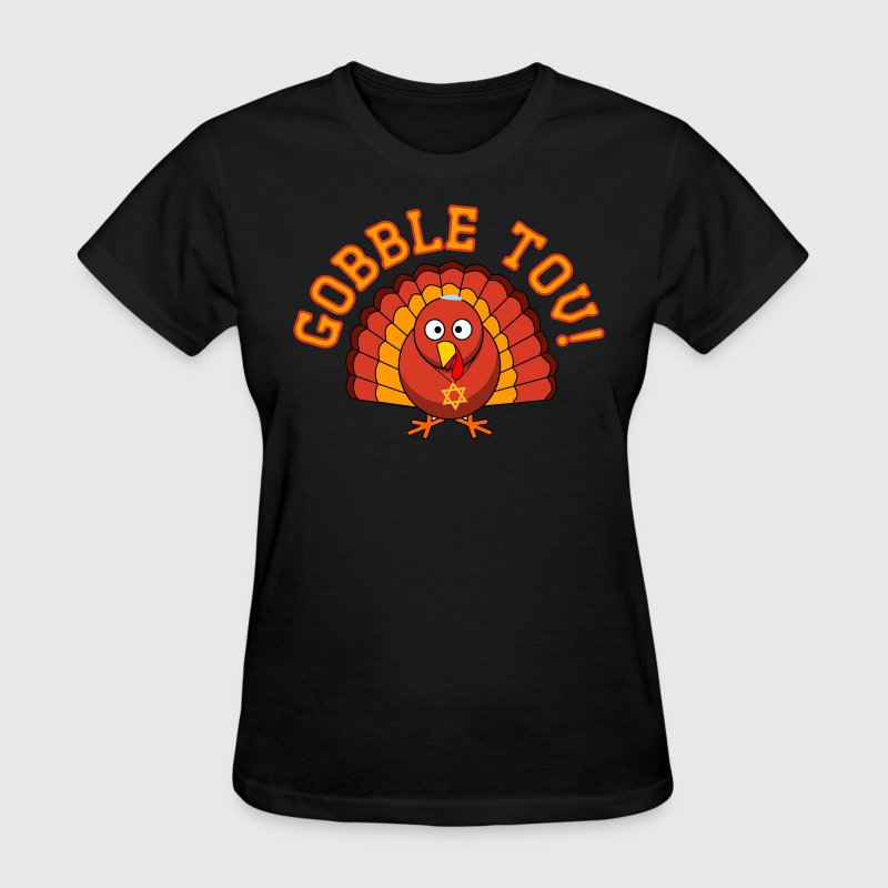 Gobble Tov Thanksgivukkah Turkey Womens T-shirt - Women's T-Shirt