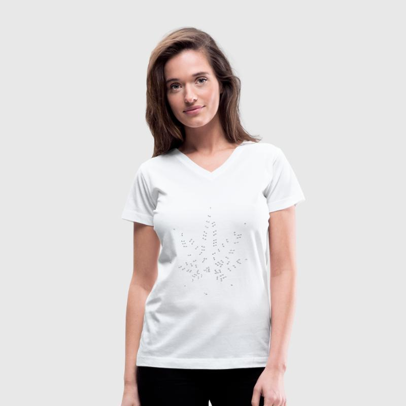 Connect the Dots Women's T-Shirts - Women's V-Neck T-Shirt