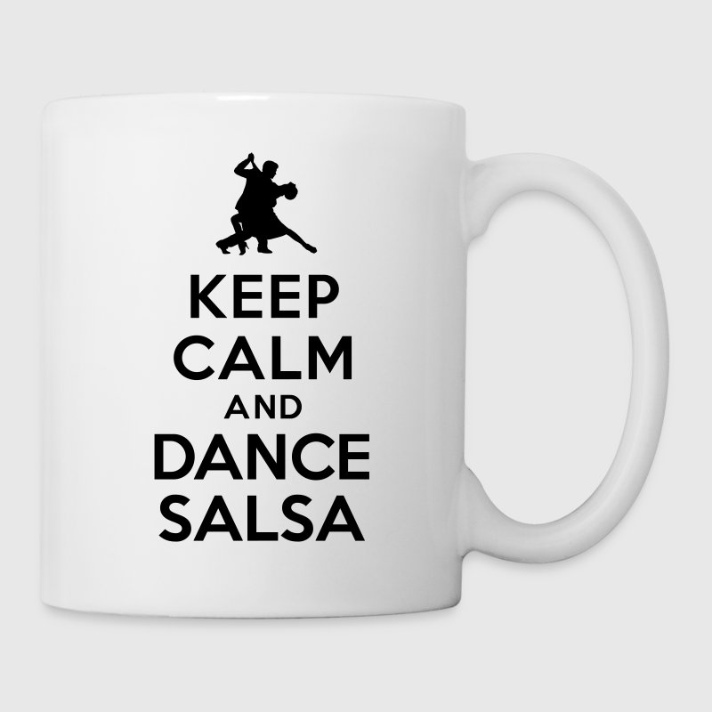 Keep calm and dance salsa Bottles & Mugs - Coffee/Tea Mug