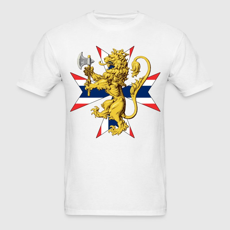 Norway Lion with Flag Cross - Men's T-Shirt