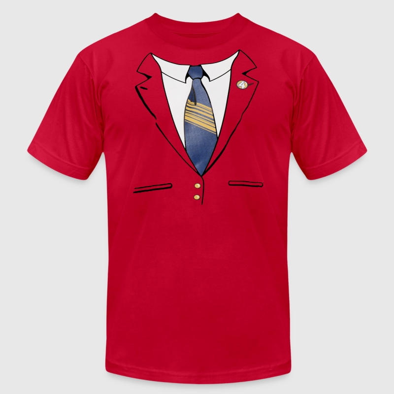 Ron Burgundy Suit T-Shirts - Men's T-Shirt by American Apparel