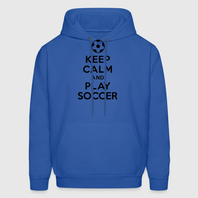 Keep calm and play soccer Hoodies - Men's Hoodie