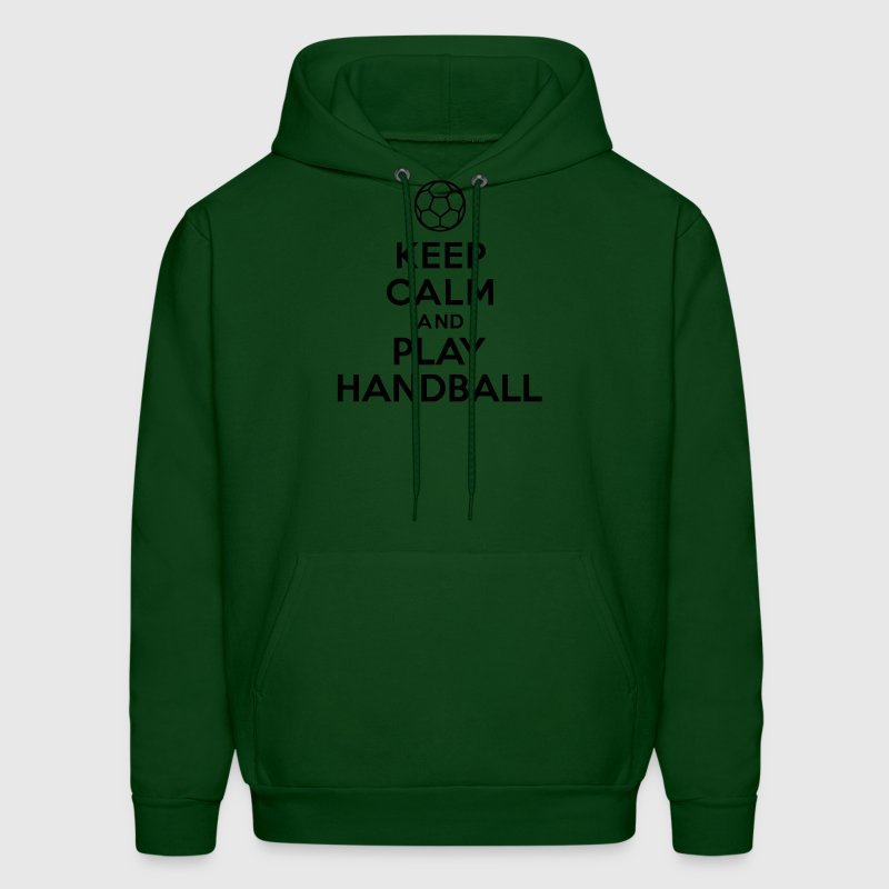 Keep calm and play Handball Hoodies - Men's Hoodie