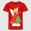 Christmas Angel with Christmas tree - Kids' Premium T-Shirt