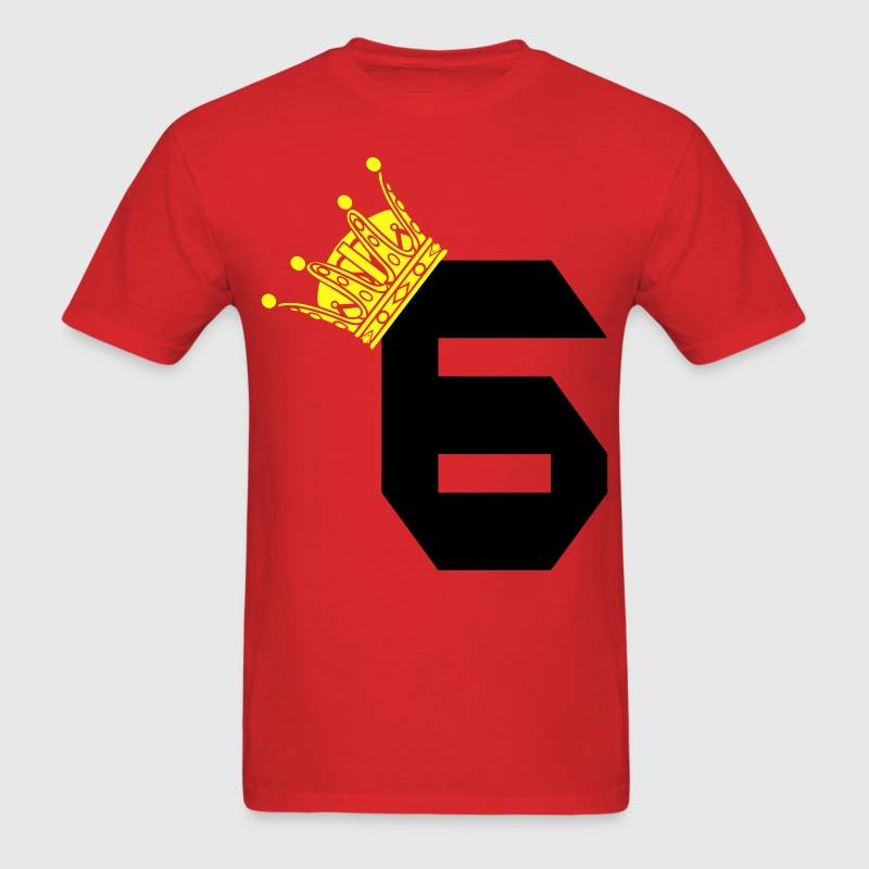 Lebron James 6 King Red - Men's T-Shirt