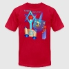 Blue Glass Dreidel-Happy Hanukkah - Men's Fine Jersey T-Shirt