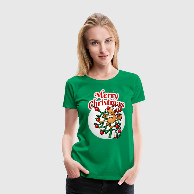 Reindeer in a Christmas tree Women's T-Shirts - Women's Premium T-Shirt