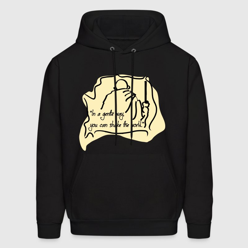Get with Gandhi Hoodies - Men's Hoodie