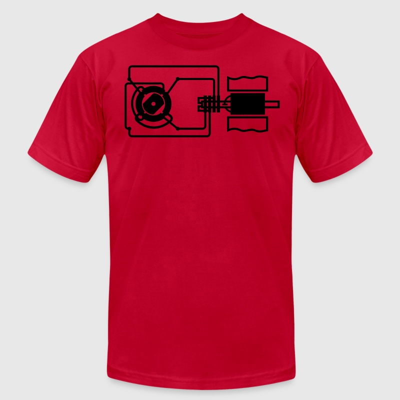 Researchers and inventions: electric motor T-Shirts - Men's T-Shirt by American Apparel