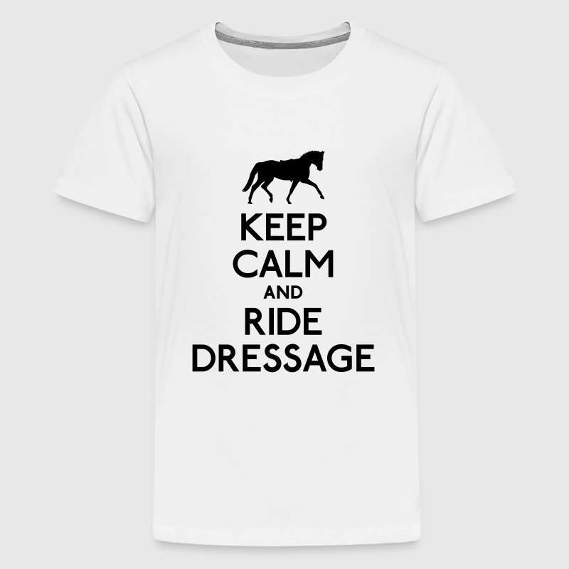 Keep Calm and Ride Dressage Kids' Shirts - Kids' Premium T-Shirt