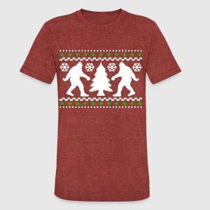 Ugly Holiday Bigfoot Christmas Sweater T-Shirt | Spreadshirt