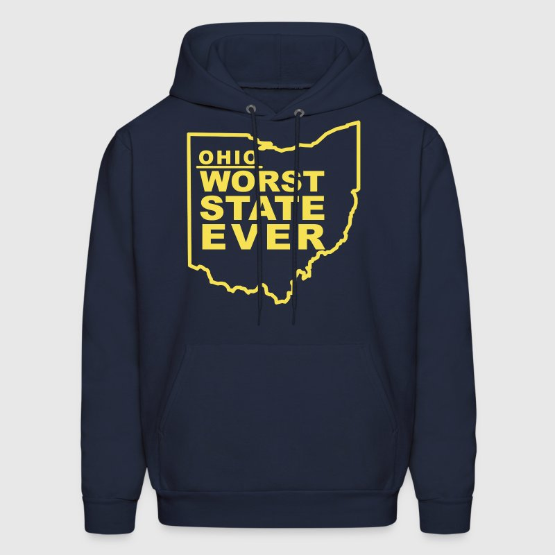 OHIO WORST STATE EVER Hoodies - Men's Hoodie