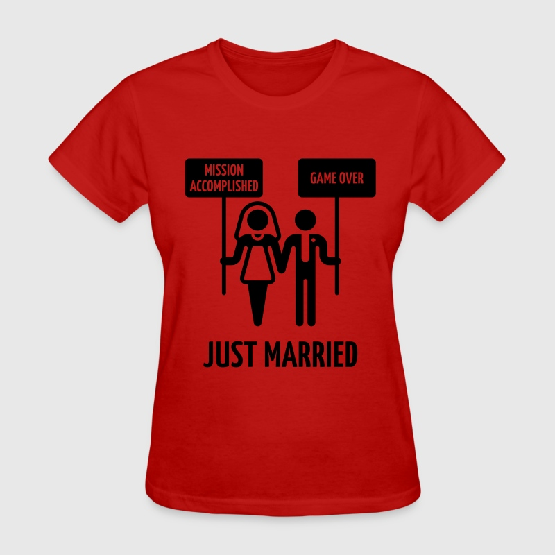 Just Married – Mission Accomplished – Game Over Women's T-Shirts - Women's T-Shirt
