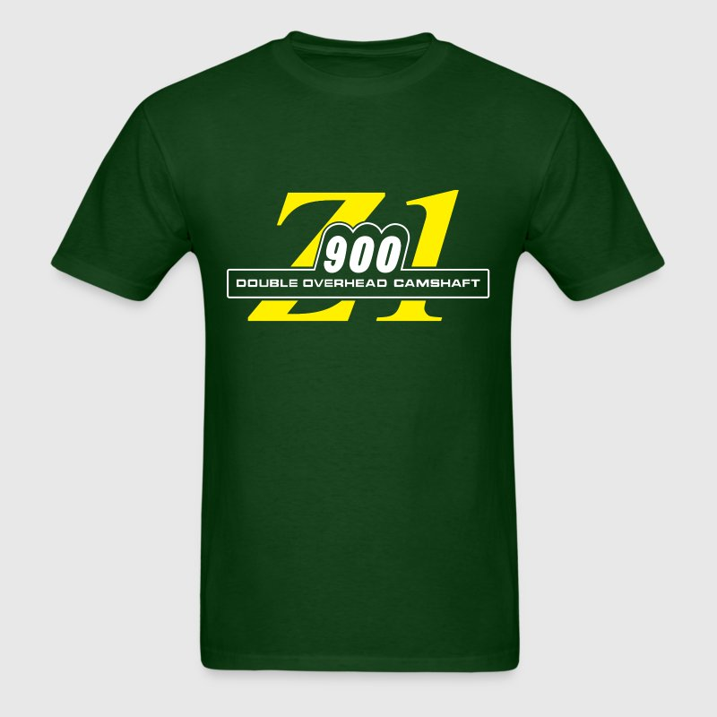 Z1 900 shirt Green & Yellow | Motorcycleshirts - Men's T-Shirt