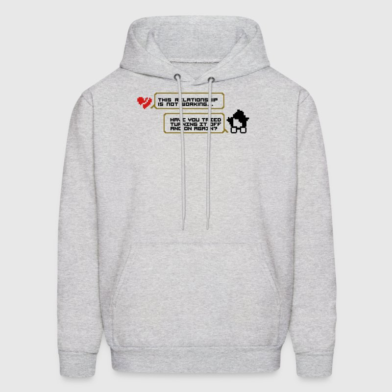 Turning it off and on relationship Hoodies - Men's Hoodie