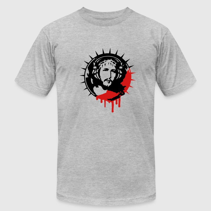 Jesus Christ with headphones T-Shirts - Men's T-Shirt by American Apparel