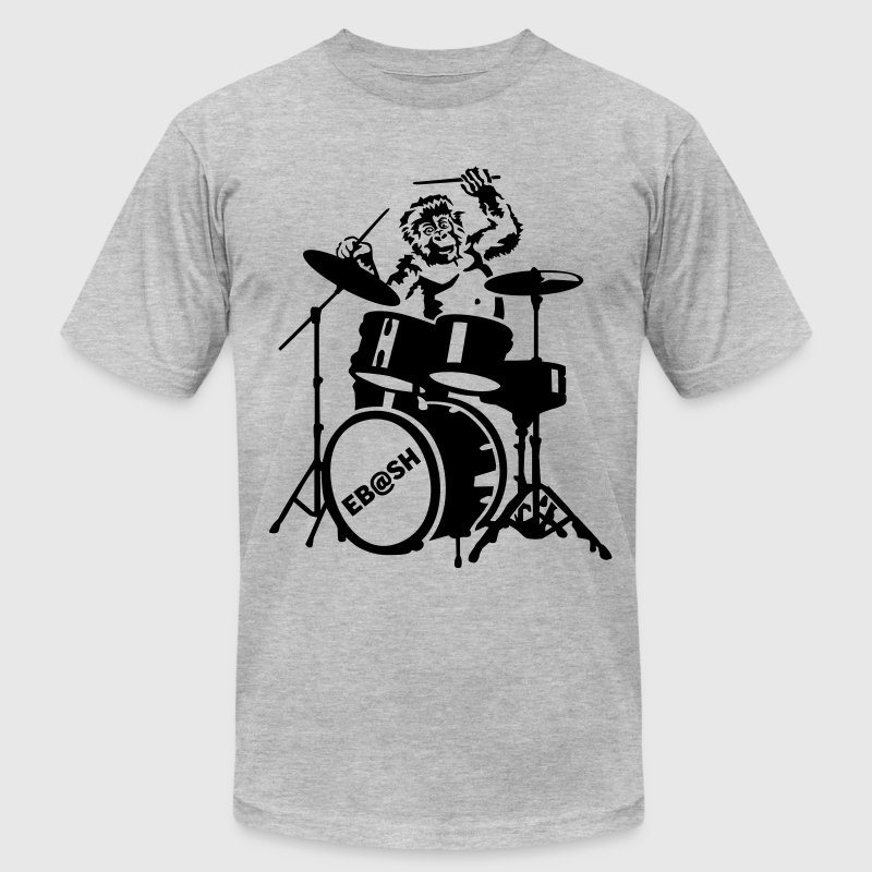Monkey drummer T-Shirts - Men's T-Shirt by American Apparel