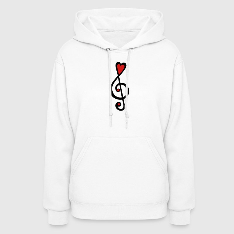Music heart notes classic, treble clef, violin Hoodies - Women's Hoodie