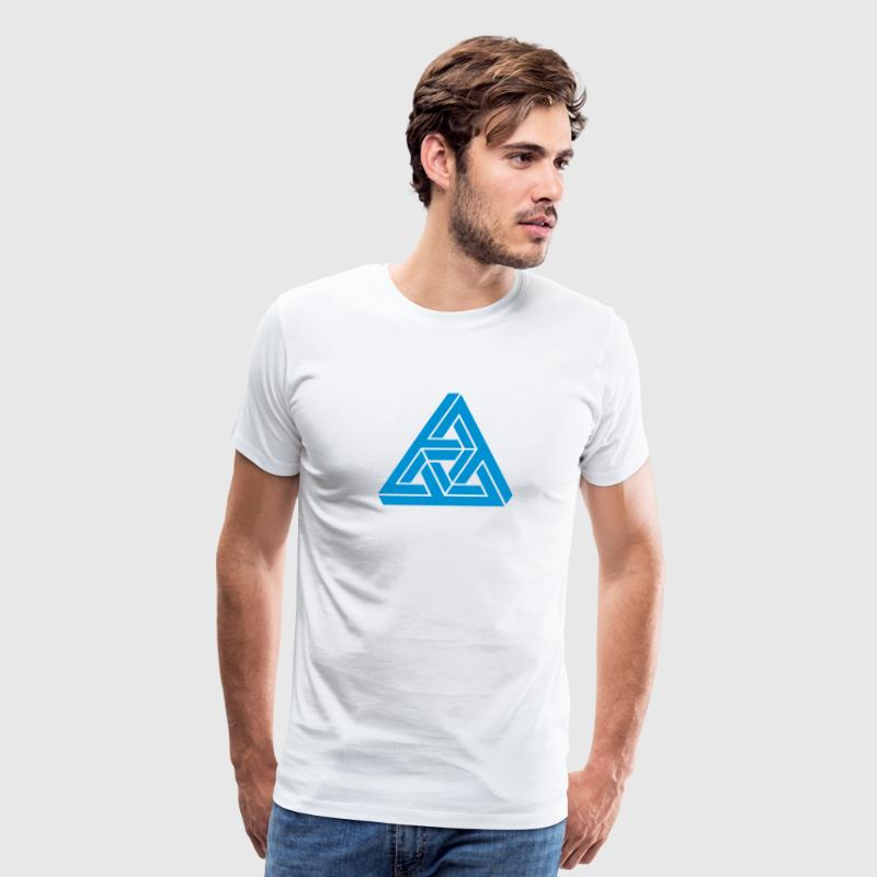 Impossible triangle optical illusion, Escher,  T-Shirts - Men's Premium T-Shirt