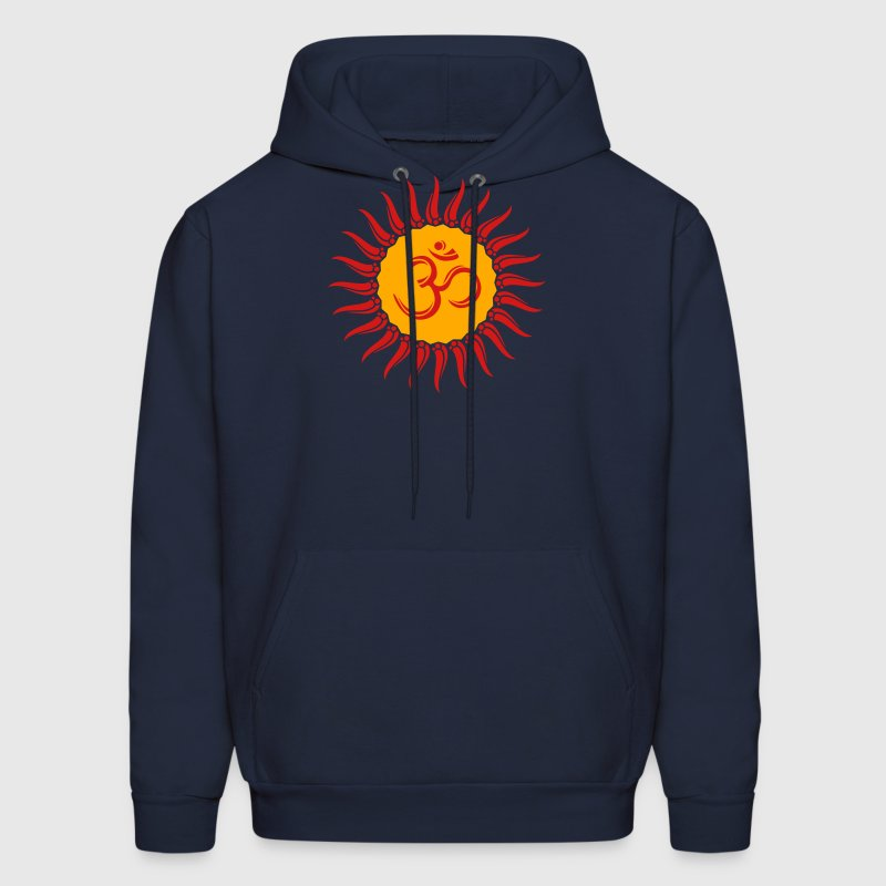 Om sun buddhism, yoga, spiritual, meditation, goa Hoodies - Men's Hoodie